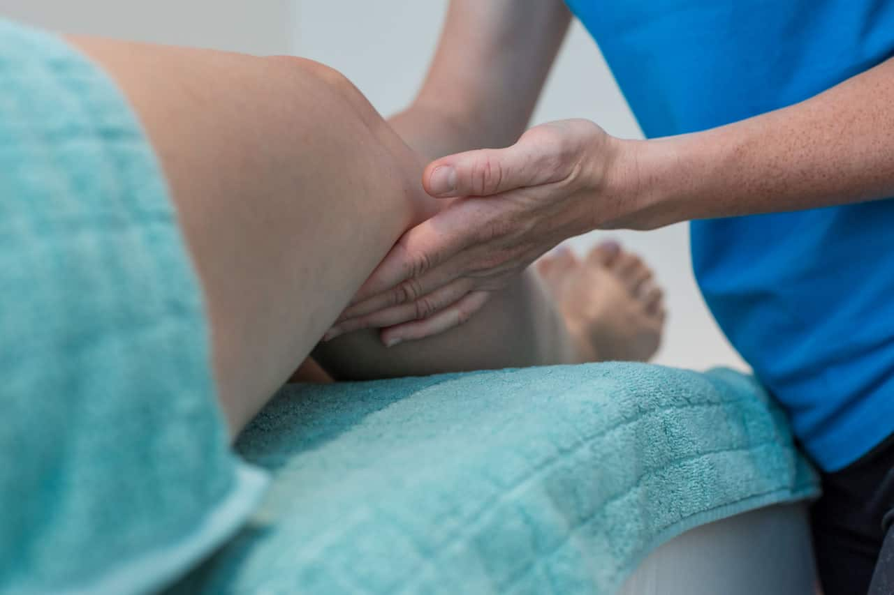 Lymphdrainage und Bandagieren